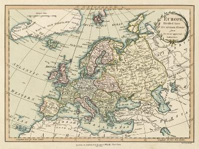 Historic Map of Europe-Laurie & White-Art Print