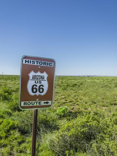 Historic Old Route 66 Passed Through Petrified Forest National Park, Az-Jerry Ginsberg-Photographic Print