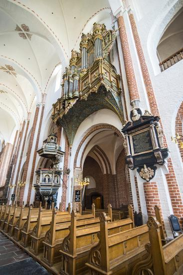 Historic Pipe Organ in UNESCO World Heritage Site, the Cathedral of Roskilde, Denmark-Michael Runkel-Photographic Print