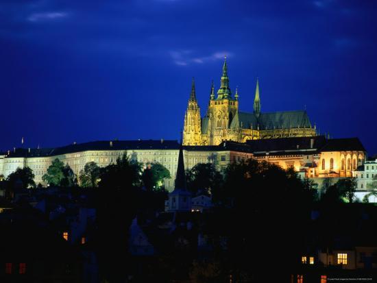 Historic Prague Castle or Hradcany Castle, Prague, Central Bohemia, Czech Republic-Jan Stromme-Photographic Print