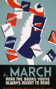Historic Reading Posters - In March Read the Books