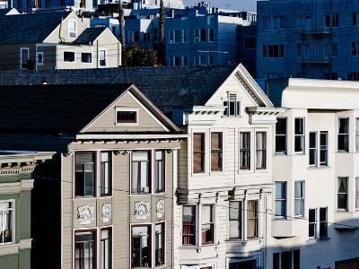 Historic Victorian Houses in San Francisco, California--Photographic Print