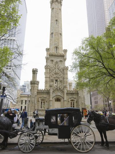 Historic Water Tower, North Michigan Avenue, Chicago, Illinois, USA-Amanda Hall-Photographic Print