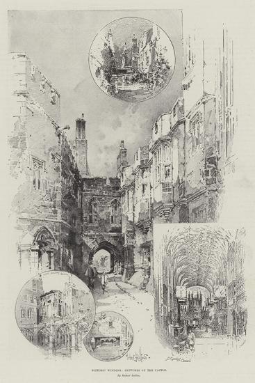 Historic Windsor, Sketches of the Castle-Herbert Railton-Giclee Print