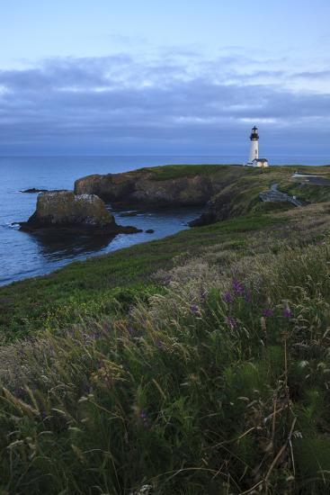 Historic Yaquina Head Lighthouse, Newport, Oregon, USA-Rick A^ Brown-Photographic Print