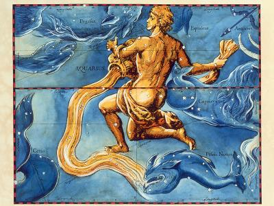 Historical Artwork of the Constellation Aquarius-Detlev Van Ravenswaay-Photographic Print