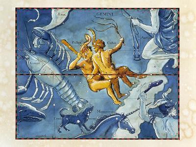 Historical Artwork of the Constellation of Gemini-Detlev Van Ravenswaay-Photographic Print