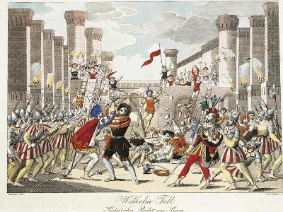 Historical Ballet of Henry, Scene from 'William Tell' by Gioachino Rossini, Engraved by Geiger-Johann Christian Schoeller-Giclee Print