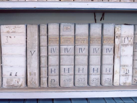 Historical Books at Strahov Monastery, Hradcany, Prague, Czech Republic, Europe-Richard Nebesky-Photographic Print