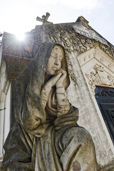 Historical Cemetery, Tomb, Burial Chamber, Statue, Cemiterio Dos Prazeres-Axel Schmies-Photographic Print