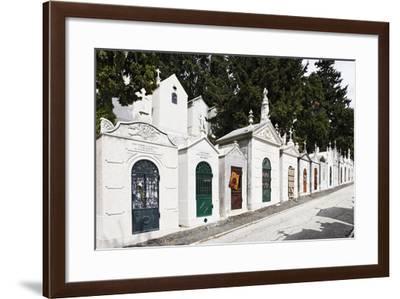 Historical Cemetery, Tombs, Funerary Chambers, Cemiterio Dos Prazeres, Prazeres, Lisbon, Portugal-Axel Schmies-Framed Photographic Print