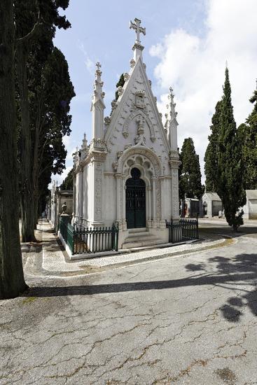 Historical Cemetery, Tombs, Funerary Chambers, Cemiterio Dos Prazeres, Prazeres, Lisbon, Portugal-Axel Schmies-Photographic Print
