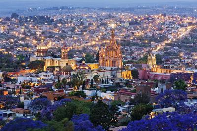 Historical Centre of San Miguel De Allende at Dusk-Jeremy Woodhouse-Photographic Print