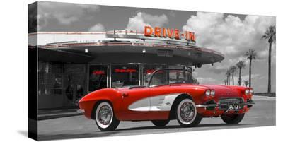Historical diner, USA-Gasoline Images-Stretched Canvas Print