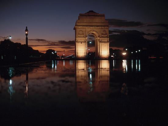 Historical Gate of India at Sunset in Bombay, India--Photographic Print