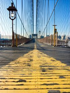 Historical Landmark of Brooklyn Bridge in New York City, New York