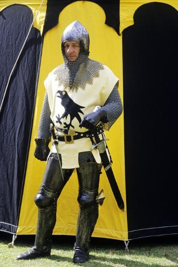 Historical Re-Enactment, Medieval Knight, Armour 14th Century--Giclee Print