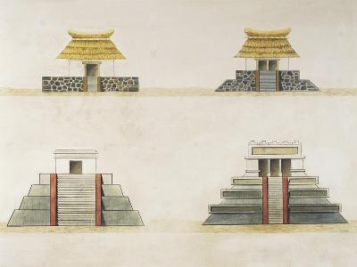 Historical Reconstruction of Buildings in Tenochtitlan--Giclee Print