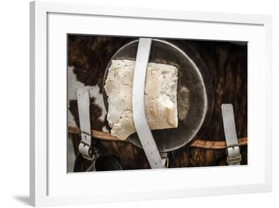 Historical Reenactment: French Infantryman's Backpack--Framed Photographic Print