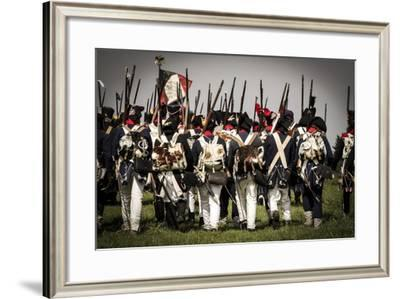 Historical Reenactment: French Line Infantry--Framed Photographic Print