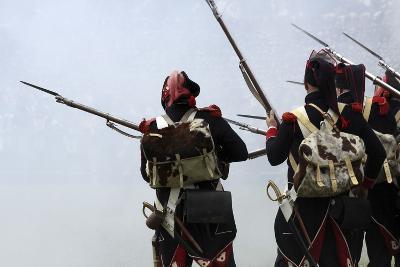 Historical Reenactment: Soldiers of the Tirailleurs Du Po Battalion--Photographic Print