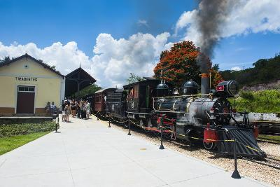 Historical Steam Train Maria Fuma §A in Tiradentes, Minas Gerais, Brazil, South America-Michael Runkel-Photographic Print
