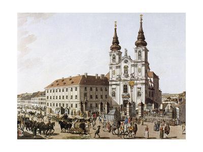 History of Austria, Vienna, Upper Market Near the Mariensaule, 1793--Giclee Print