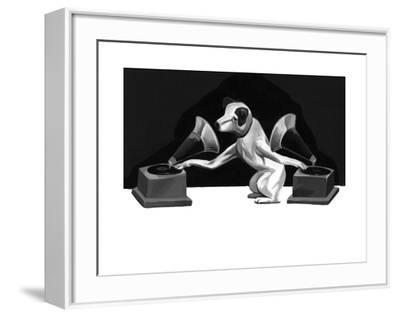 History of the DJ-Thomas Fuchs-Framed Art Print