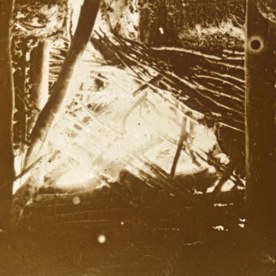 Hit from a 75 automatic anti-aircraft gun, c1914-c1918-Unknown-Photographic Print