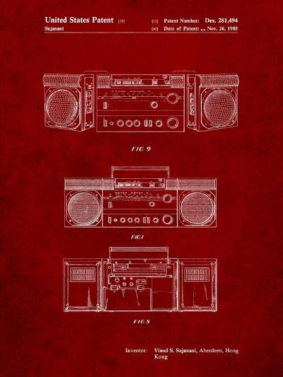 Hitachi Boom Box Patent-Cole Borders-Art Print