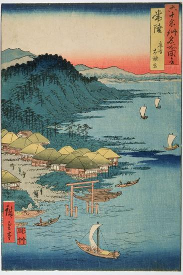Hitachi Province: Kashima Great Shrine, from the Series 'Illustrations of Famous Places in the…-Ando Hiroshige-Giclee Print