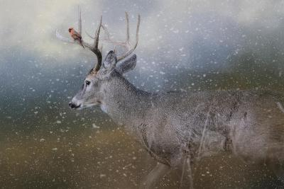 HitchHiker in the Snow Storm-Jai Johnson-Giclee Print