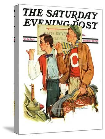 """""""Hitchhiking to State U.,"""" Saturday Evening Post Cover, September 23, 1939"""