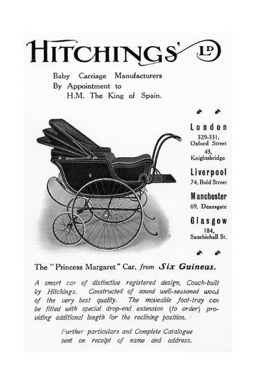 Hitchings 'Princess Margaret' Baby Car, Advertisement from 'Country Life' Magazine, 1913--Giclee Print