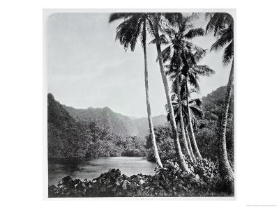 """Hitiaa Lake, from """"Tahiti,"""" Published in London, 1882-Colonel Stuart-wortley-Giclee Print"""