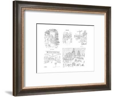 Hitler's Bunker Russian Zone - New Yorker Cartoon-Saul Steinberg-Framed Premium Giclee Print