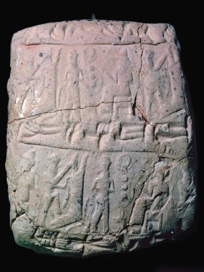Hittite clay envelope to hold a letter on a clay tablet, 18th century. Artist: Unknown-Unknown-Giclee Print