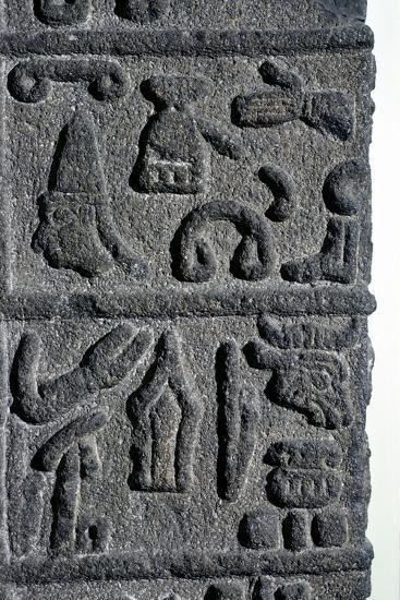 Hittite Hieroglyphs, c9th century BC. Artist: Unknown-Unknown-Giclee Print