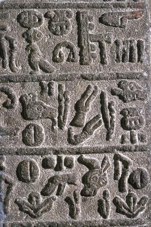 Hittite Hieroglyphs, c9th century BC Artist: Unknown-Unknown-Framed Giclee Print