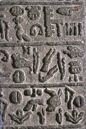 Hittite Hieroglyphs, c9th century BC Artist: Unknown-Unknown-Giclee Print
