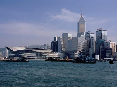 Hk Convention and Exhibition Center, Victoria Harbour, Hong Kong, China-Amanda Hall-Photographic Print
