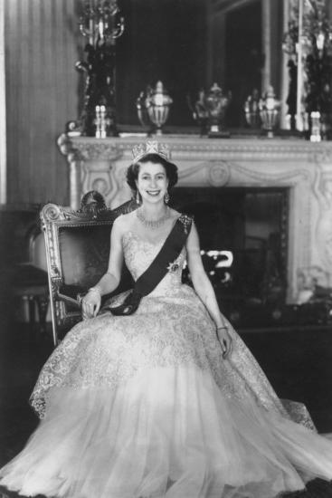 HM Queen Elizabeth II at Buckingham Palace, 12th March 1953-Sterling Henry Nahum Baron-Photographic Print