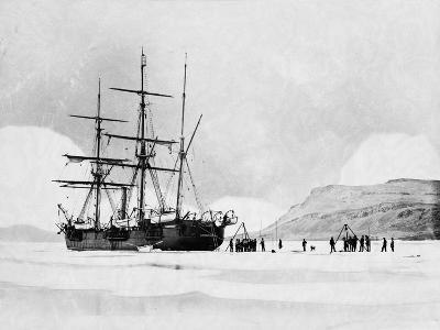 HMS Alert in Arctic Circle--Photographic Print