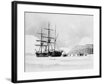 HMS Alert in Arctic Circle--Framed Photographic Print