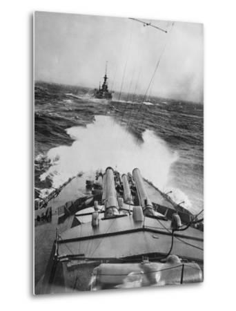 HMS Audacious in a Storm