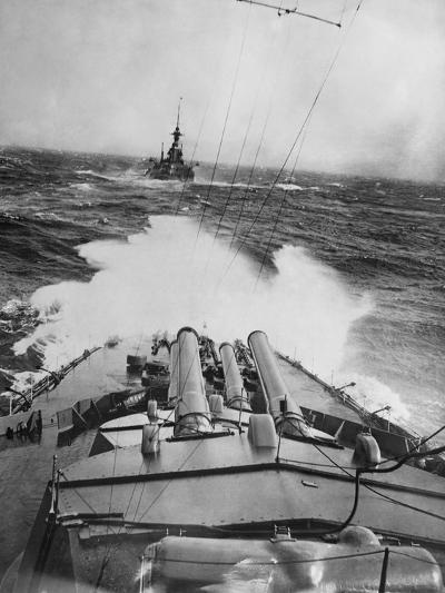 HMS Audacious in a Storm--Photographic Print