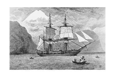 HMS Beagle in Straits of Magellan--Giclee Print