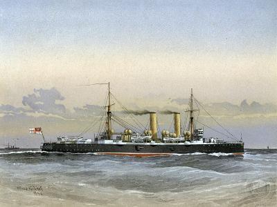 HMS Blenheim, Royal Navy 1st Class Cruiser, 1892-William Frederick Mitchell-Giclee Print