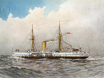 HMS Colossus, Royal Navy 2nd Class Battleship, C1890-C1893-William Frederick Mitchell-Giclee Print
