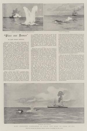 HMS Crescent, Commanded by HRH the Duke of York, at Sea-Eduardo de Martino-Giclee Print